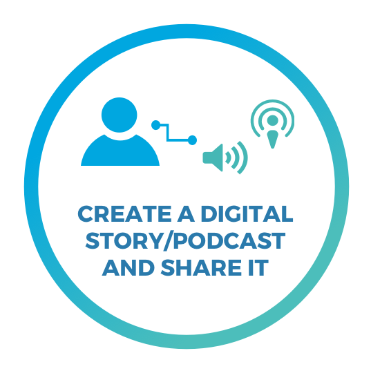 Step 3: Create a digital story/podcast and share it